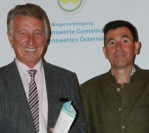 Botschafter Helmut Mödlhammer mit Gründer Georg Dygruber