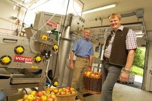 Gemeinschaftliche Obstpresse zur Belebung der Region